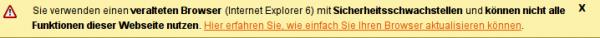 Browser-Update.org Info Bar